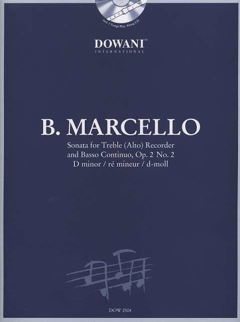 Benedetto Marcello - Sonata Op 2 N ° 2 in D minor - Partition - di-arezzo.co.uk