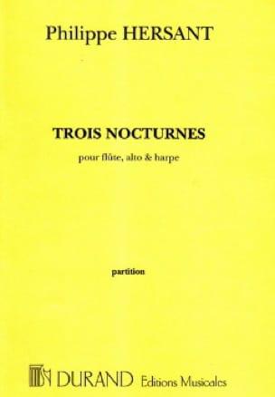 Philippe Hersant - Trois nocturnes - Score - Partition - di-arezzo.co.uk
