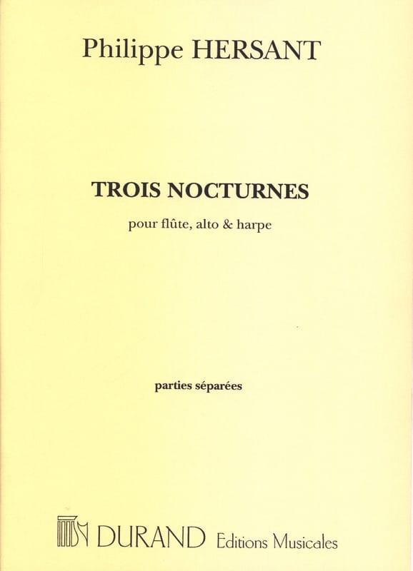 Philippe Hersant - Three nocturnes - Separate parts - Partition - di-arezzo.co.uk