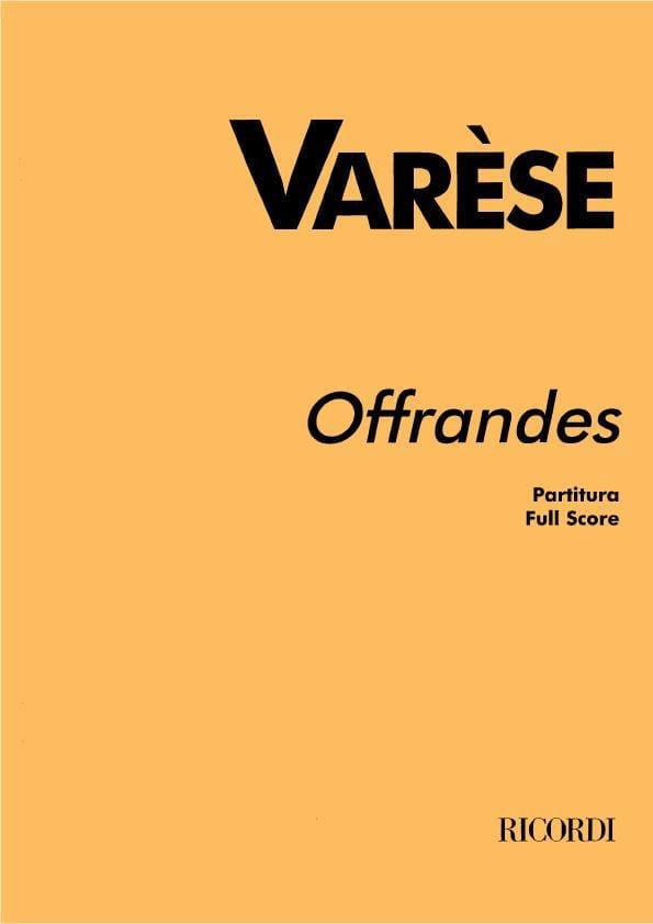 Offrandes - Partitura - Edgard Varèse - Partition - laflutedepan.com