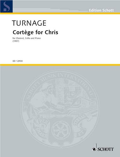 Cortège for Chris - Mark-Anthony Turnage - laflutedepan.com