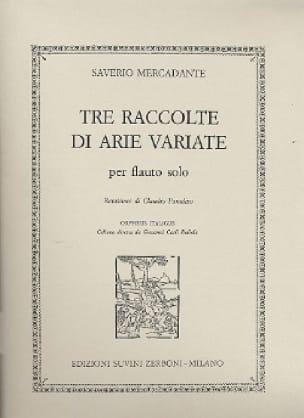Tre Raccolte Di Arie Varie - Saverio Mercadante - laflutedepan.com