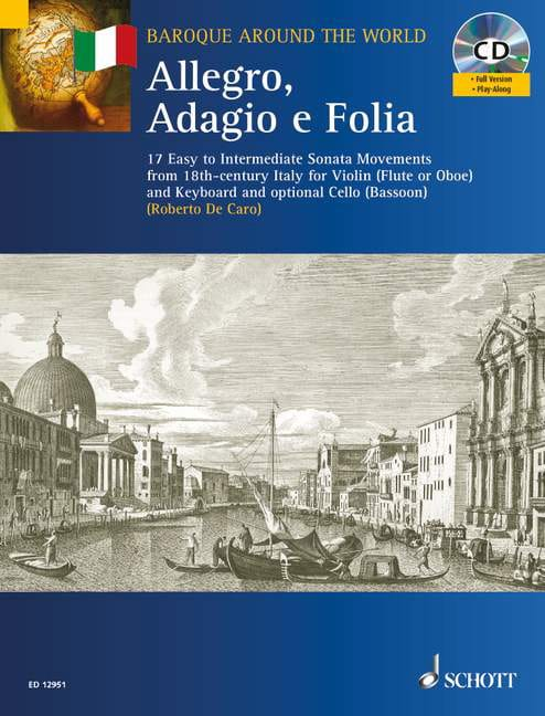 Allegro, Adagio et Follia - Partition - Violon - laflutedepan.com
