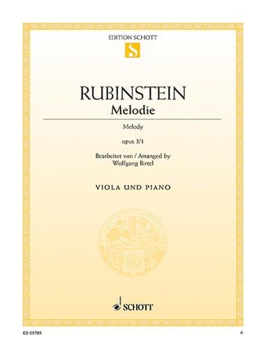 Mélodie Op.3 N°1 - Anton Rubinstein - Partition - laflutedepan.com