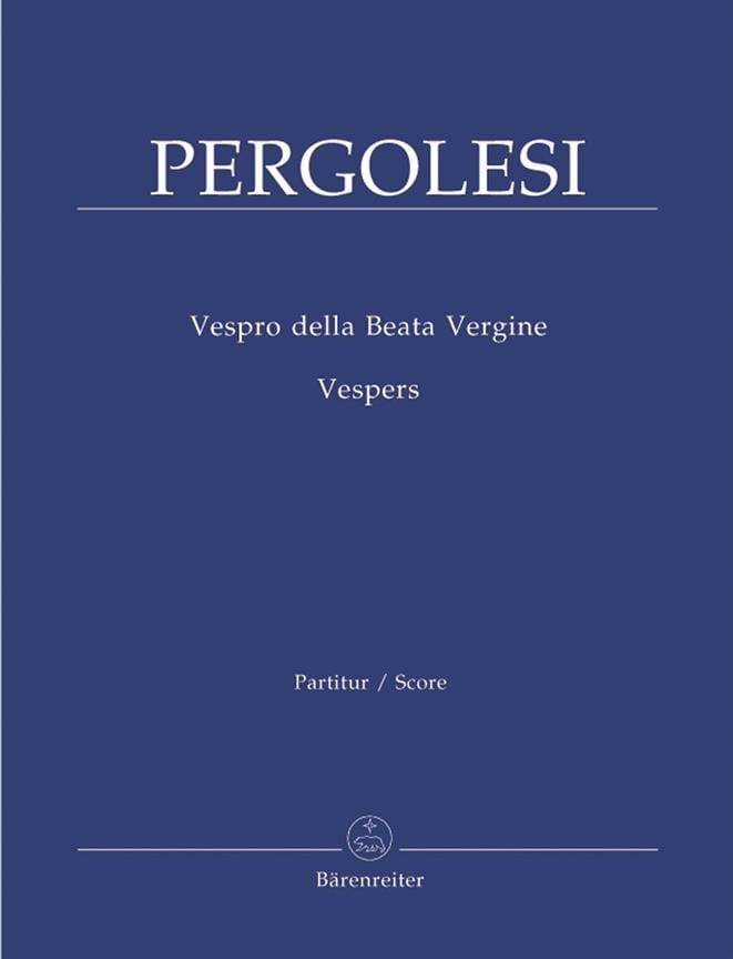 Vespro Della Beata Vergine - PERGOLESE - Partition - laflutedepan.com