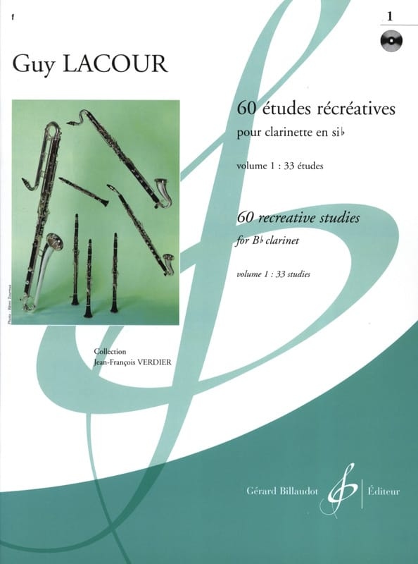 Guy Lacour - 60 Recreational Studies - Volume 1 - Partition - di-arezzo.com