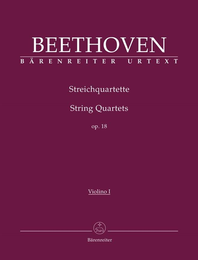 BEETHOVEN - String Quartets Op. 18, 1-6 - instrumental parts - Partition - di-arezzo.co.uk