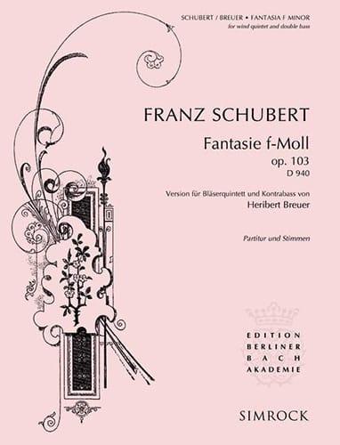 Fantasie f-moll op. 103 D. 940 -Bläserquintett Kontrabass - Partitur + Stimmen - laflutedepan.com