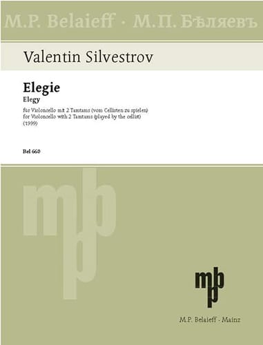 Elegy - Valentin Silvestrov - Partition - laflutedepan.com