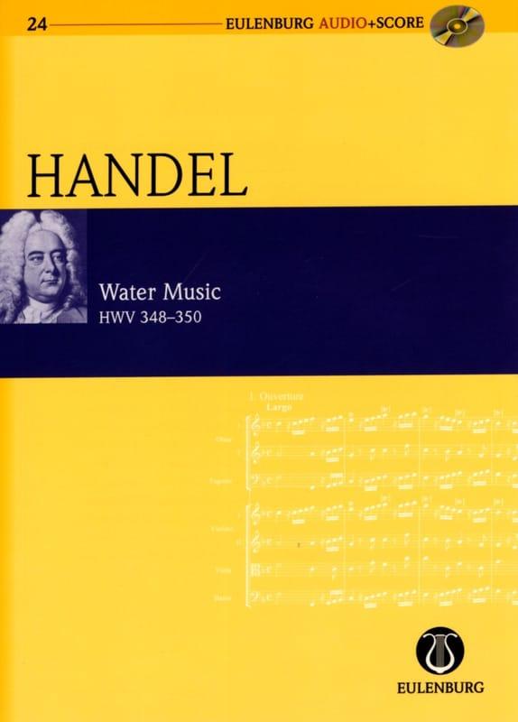 HAENDEL - Water Music Hwv 348-350 score and audio CD - Partition - di-arezzo.co.uk