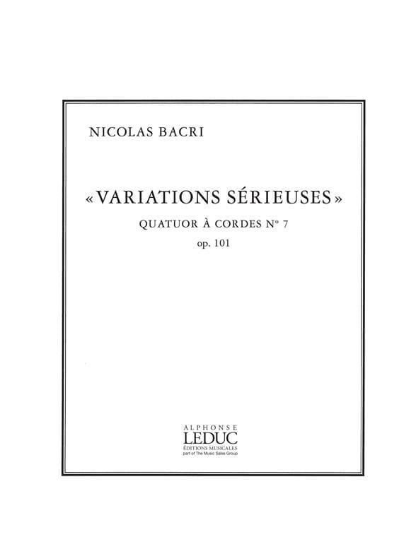 Variations sérieuses op. 101 - parties + partition - laflutedepan.com