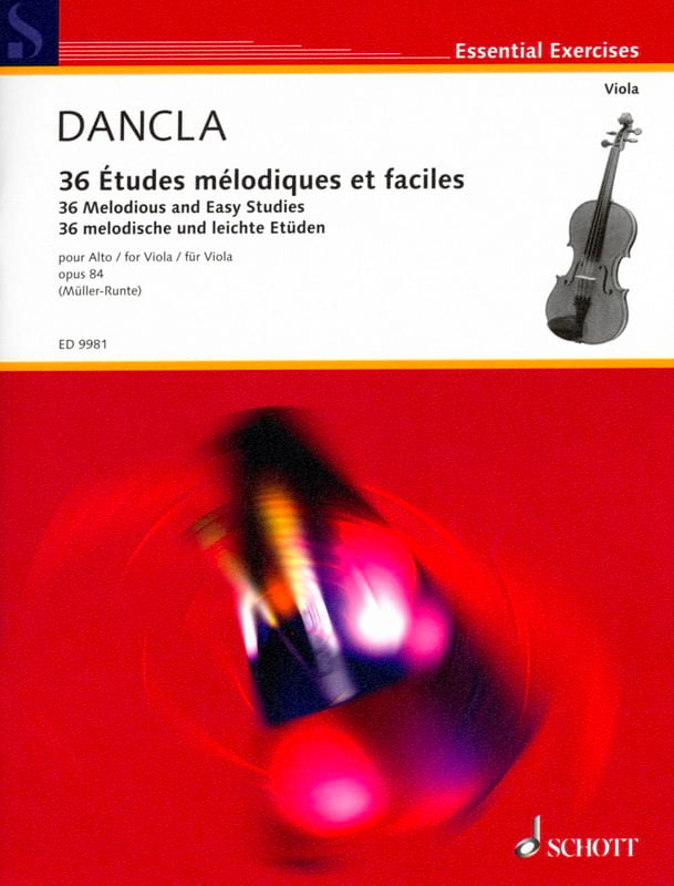 DANCLA - 36 Melodic and Easy Studies Op.84 - Viola - Partition - di-arezzo.com