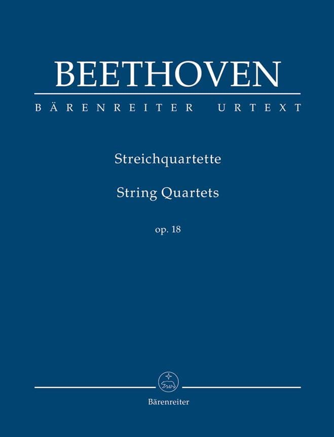 String Quartets Op.18 - BEETHOVEN - Partition - laflutedepan.com