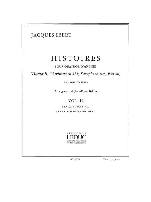 Histoires - Volume 2 -Quatuor d'anches - Cond. + parties - laflutedepan.com