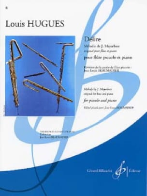 Délire - Louis Hugues - Partition - laflutedepan.com