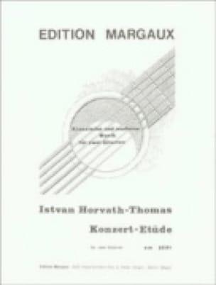 Konzert-Etüde -2 Gitarren - Istvan Horvath-Thomas - laflutedepan.com
