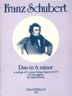 Duo in A minor - 2 Guitars - SCHUBERT - Partition - laflutedepan.com