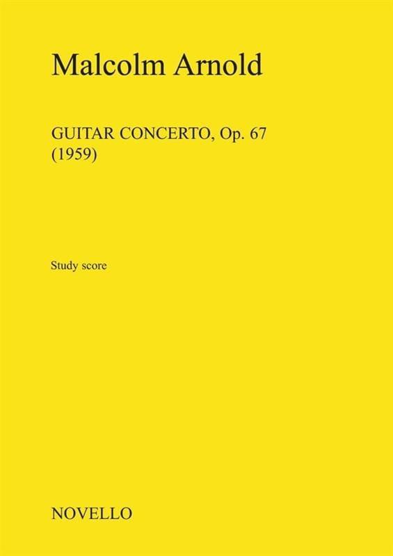 Malcolm Arnold - Concierto para guitarra Opus 67 1959 - Partition - di-arezzo.es