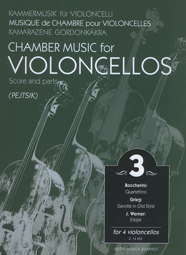Arpad Pejtsik - Chamber music for violoncellos - Volume 3 - Score Parts - Partition - di-arezzo.com