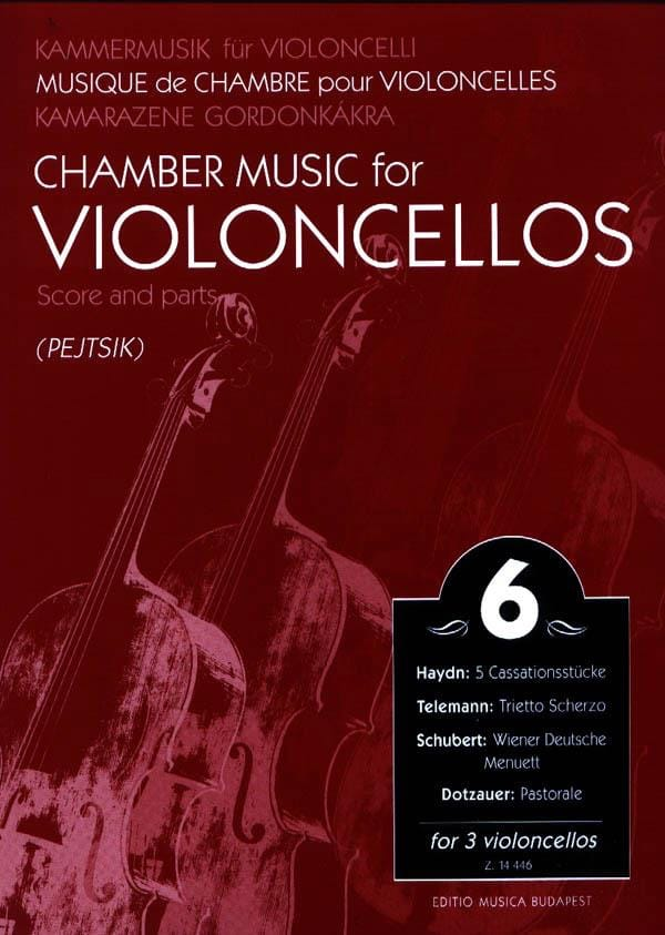 Chamber music for violoncellos - Volume 6 - Score + Parts - laflutedepan.com