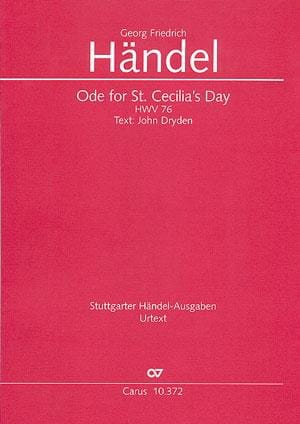 Ode for St. Cecilia's Day HWV 76 - Conducteur - laflutedepan.com