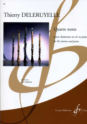 Quatre Notes - Thierry Deleruyelle - Partition - laflutedepan.com