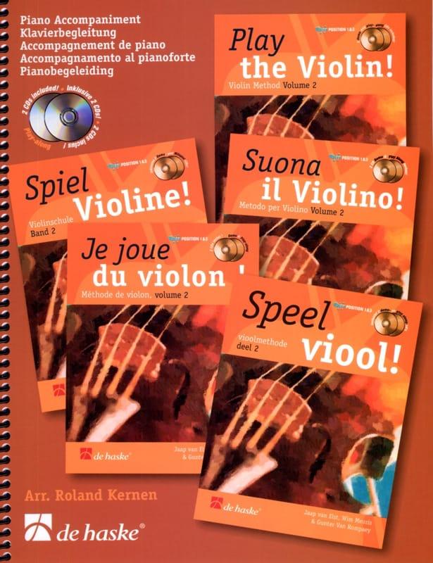 DE HASKE - I play violin Vol. 2 - Piano Accompaniment - Partition - di-arezzo.co.uk