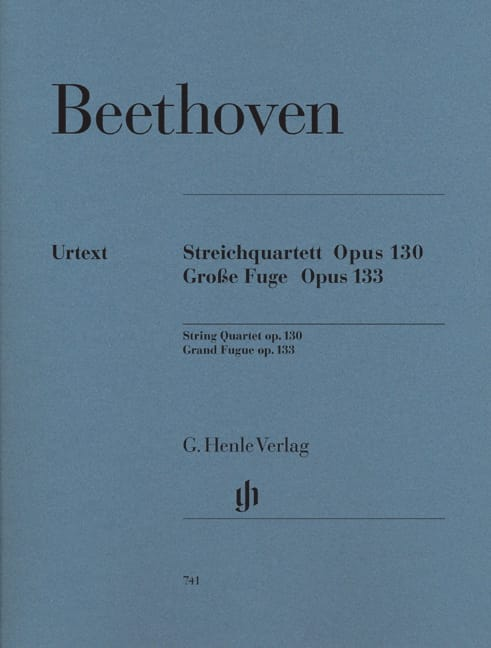 BEETHOVEN - String quartet in B flat major op. 130 - Great Fugue op. 133 - Partition - di-arezzo.co.uk