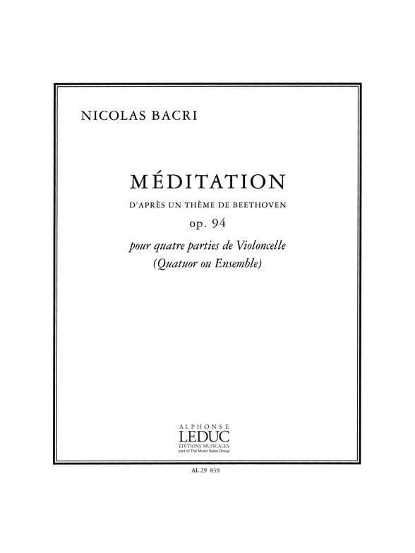 Méditation Op. 94 - Nicolas Bacri - Partition - laflutedepan.com