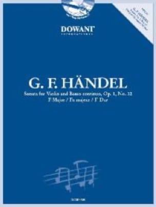 HAENDEL - Sonata Op.1 N ° 12 In F Maj. - Partition - di-arezzo.co.uk