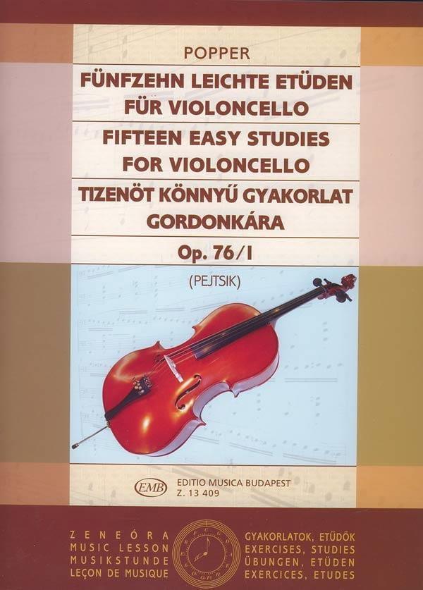 15 Etudes Faciles Vol .1 Op. 76 N° 1 - David Popper - laflutedepan.com