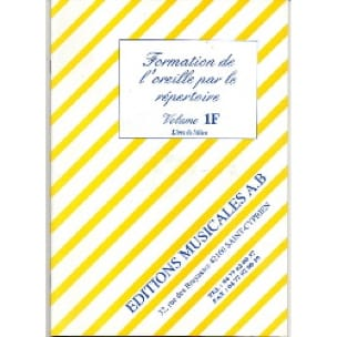 Formation de l' Oreille par le Répertoire Volume 1f+cd - laflutedepan.com