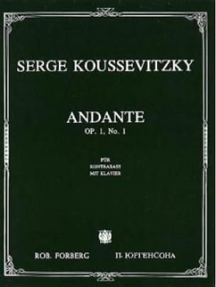 Serge Koussevitzky - Andante - Partition - di-arezzo.co.uk