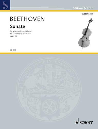 Sonate Op.64 - BEETHOVEN - Partition - Violoncelle - laflutedepan.com