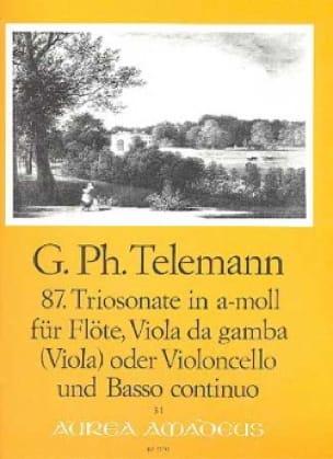 Sonate en Trio en la Mineur N°87 - Twv42:a7 - laflutedepan.com