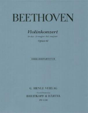 Violinkonzert D-Dur op. 61 - Partitur - BEETHOVEN - laflutedepan.com