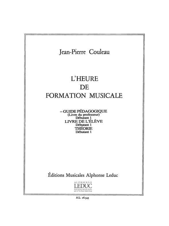 L' Heure de Formation Musicale - Débutant 1 - Professeur - laflutedepan.com