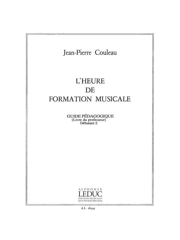 Jean-Pierre Couleau - The time of FM - Deb. 2 - Prof. - Partition - di-arezzo.co.uk