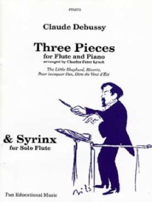 3 Pièces - DEBUSSY - Partition - Flûte traversière - laflutedepan.com