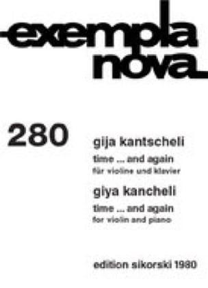 Time And Again - Gija Kantscheli - Partition - laflutedepan.com