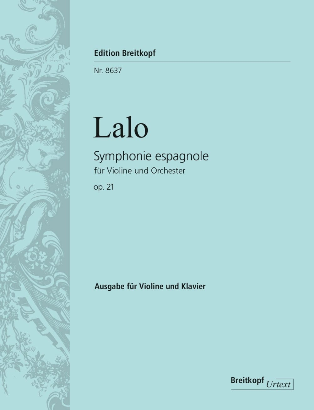 Edouard Lalo - Spanish Symphony Opus 21 - Partition - di-arezzo.co.uk