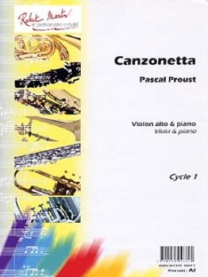 Canzonetta - Pascal Proust - Partition - Alto - laflutedepan.com