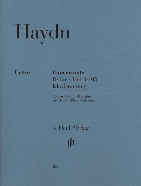 Concertante B-Dur Hob. 1 : 105 - HAYDN - Partition - laflutedepan.com