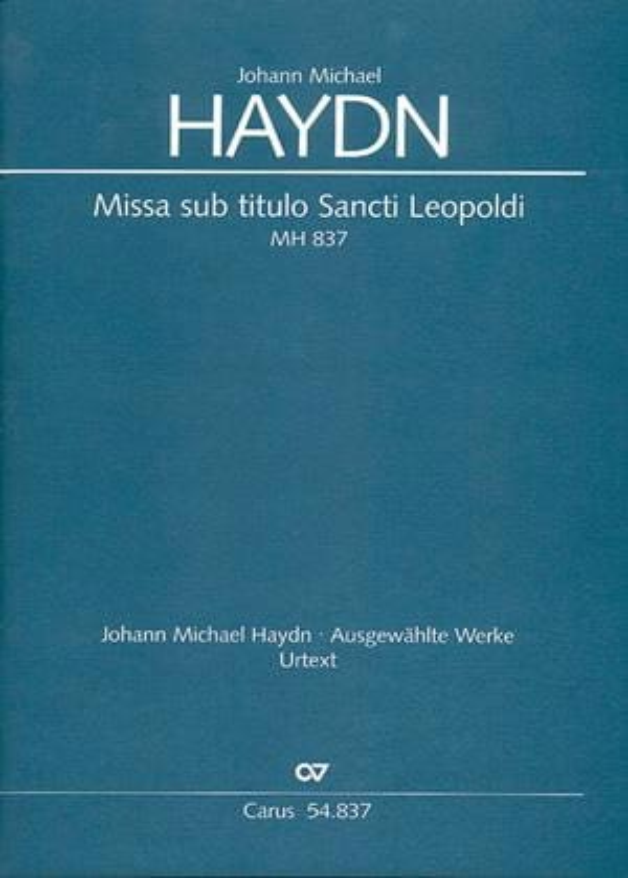 Missa sub titulo Sancti Leopoldi MH 837 - conducteur - laflutedepan.com