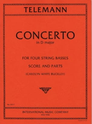 Concerto for four string basses - TELEMANN - laflutedepan.com