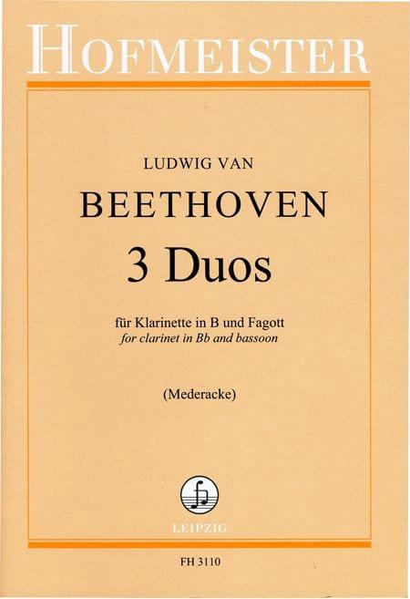 3 Duos - BEETHOVEN - Partition - Duos - laflutedepan.com
