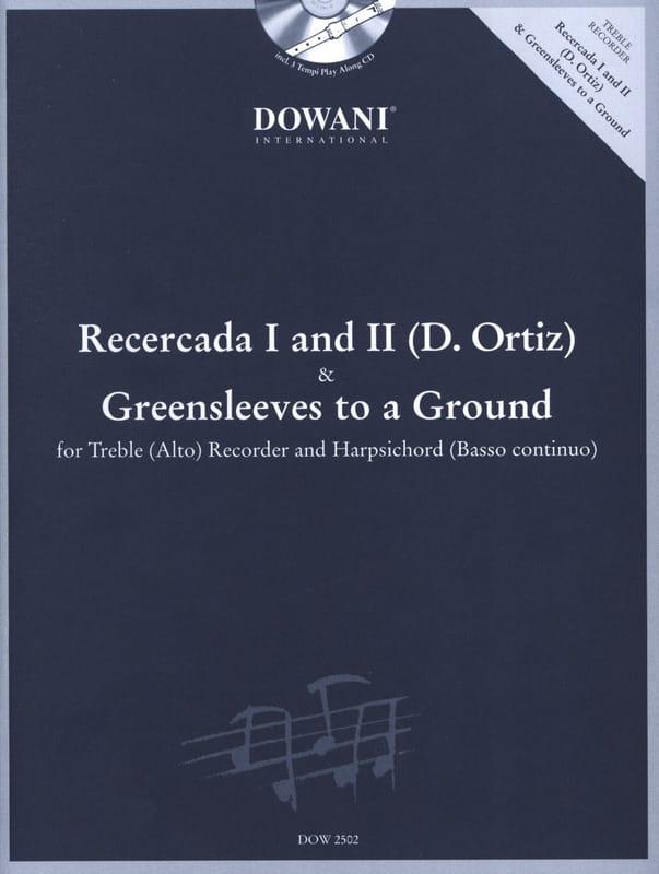 Recercada 1 et 2 Ortiz - Greensleeves - Treble recorder Harpsichord - laflutedepan.com