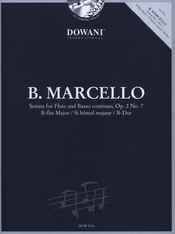 Benedetto Marcello - Sonata sib maj. op. 2 n ° 7 - Flauto e Bc - Partition - di-arezzo.it