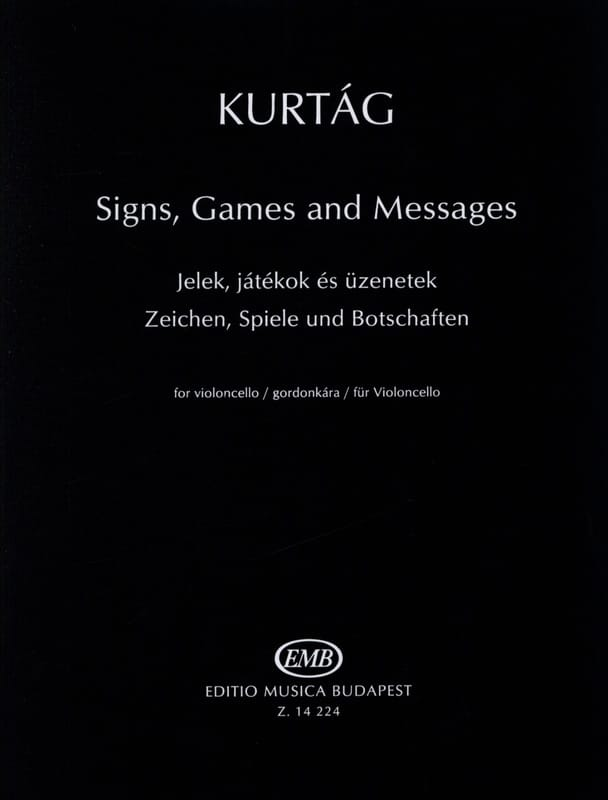 Signs, Games And Messages - KURTAG - Partition - laflutedepan.com