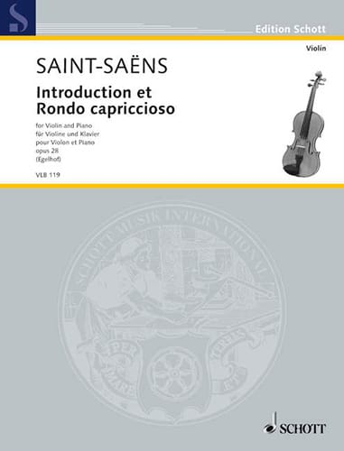 Camille Saint-Saëns - Introduction and Rondo Capriccioso Op.28 - Partition - di-arezzo.co.uk